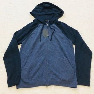 AUTUMN CASHMERE**Hooded 100% Cashmere Zip-Up**$400